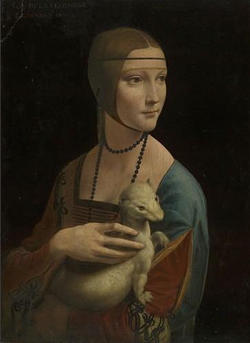 Leonardo da Vinci - Portrait of Cecilia Gallerani The Lady with an Ermine