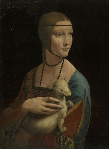 Leonardo da Vinci - Portrait of Cecilia Gallerani The Lady with an Ermine