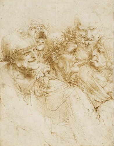 Leonardo da Vinci - 'Five character studies' ('A man tricked by gypsies')