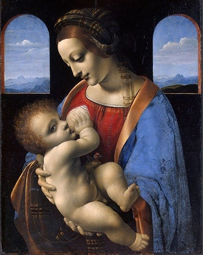 Leonardo da Vinci - Virgin and Child The Madonna Litta