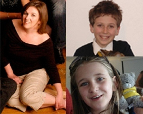 A file photograph of the mother Claudia Oakes-Green (clockwise from left), son Thomas Oakes-Green (right), and daughter, Eleanor Oakes-Green. According to the coroner's ruling, the mother had died at her own hands after recording a death of unlawful killi