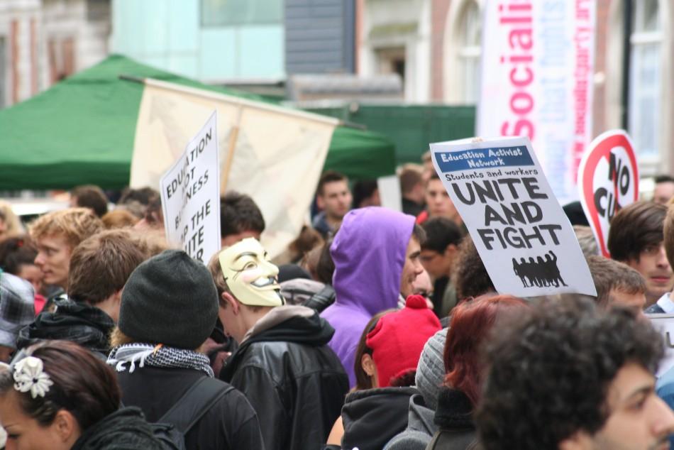 London students demo
