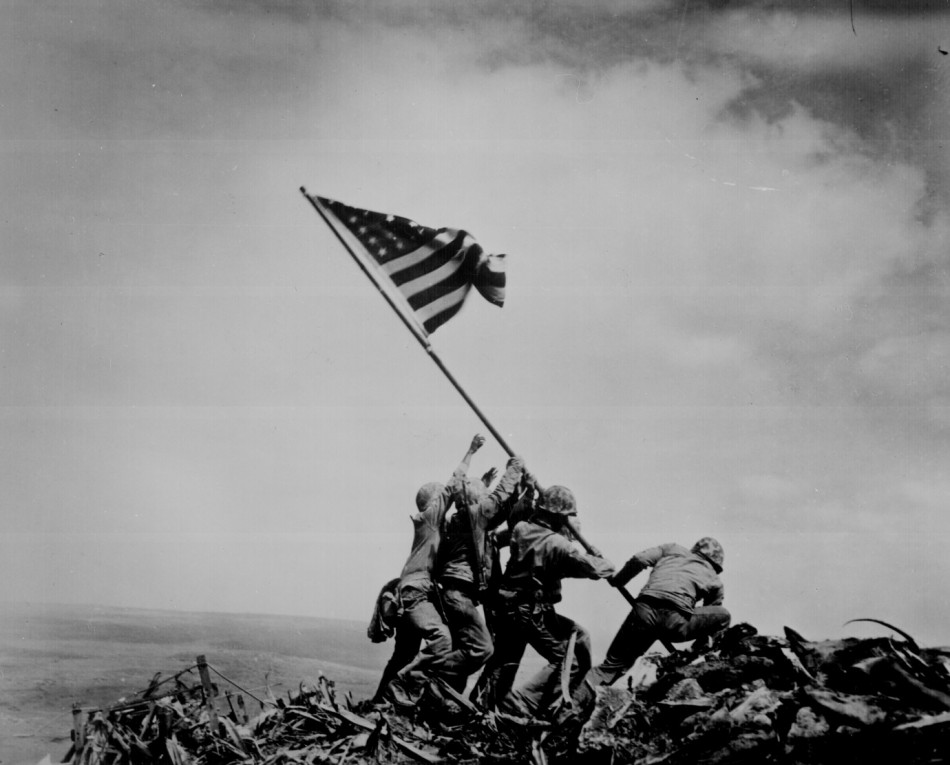 Raising the Flag on Iwo Jima, by Joe Rosenthal