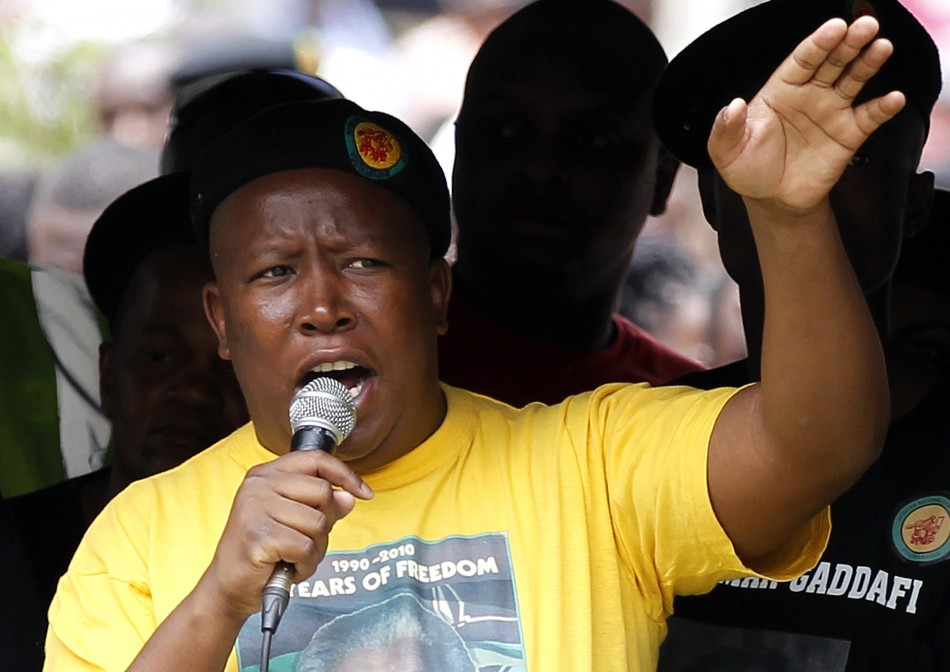 South Africa's ANC suspends Malema for five years
