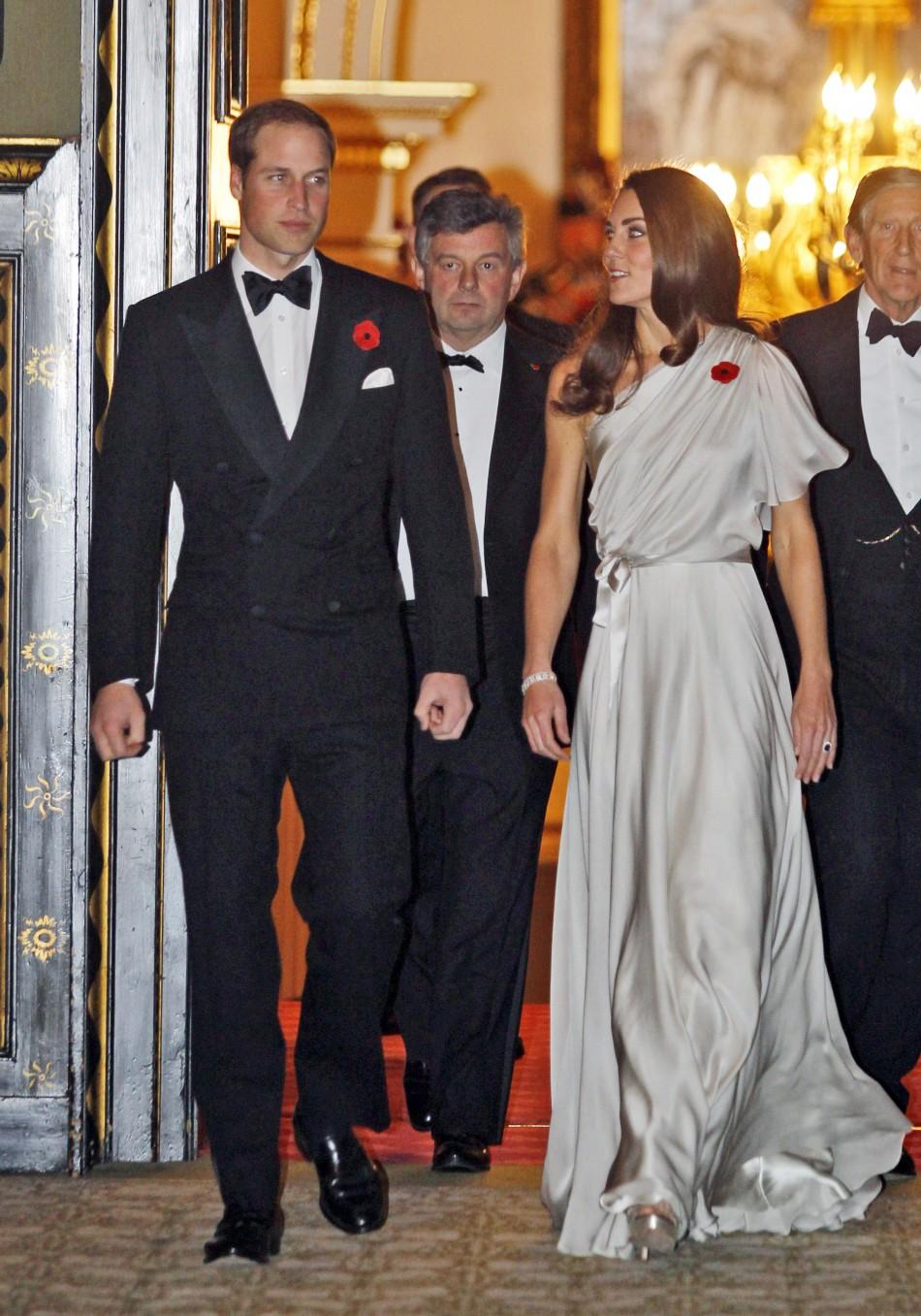 Kate Middleton Dons One-Shoulder Jenny Packham at St. Jamess Gala Dinner