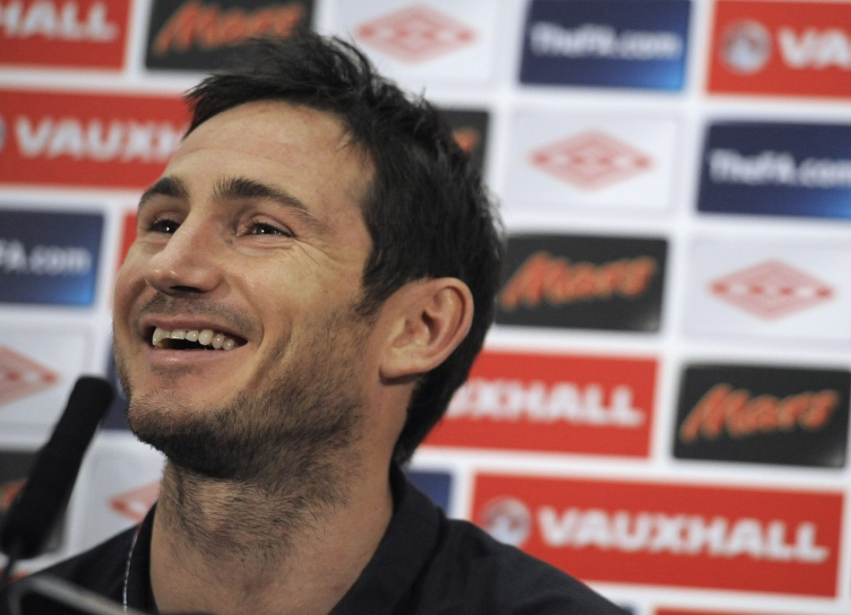 England's stand-in captain Frank Lampard speaks to the media during a news conference at Wembley stadium in London, November 11, 2011