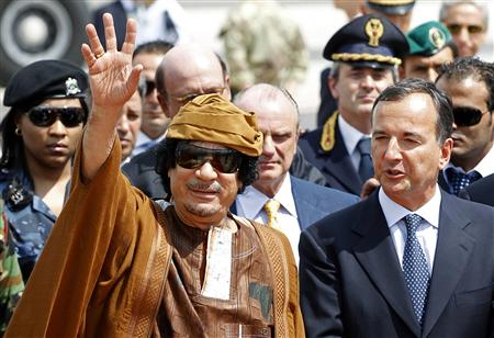 Moammar Gadhafi.