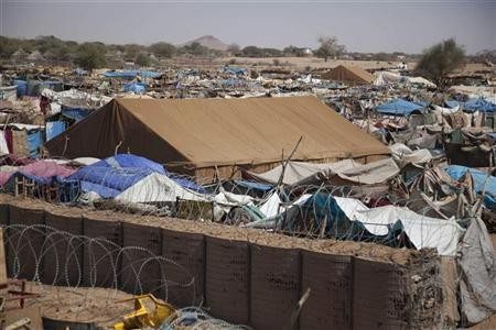 """Camps for internally displaced persons at the team site of Darfur""""s"""