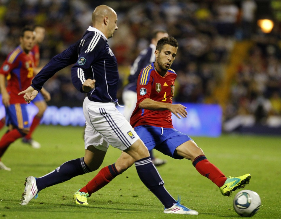 Valencia defender Jordi Alba has not been approached by Manchester United according to his agent.