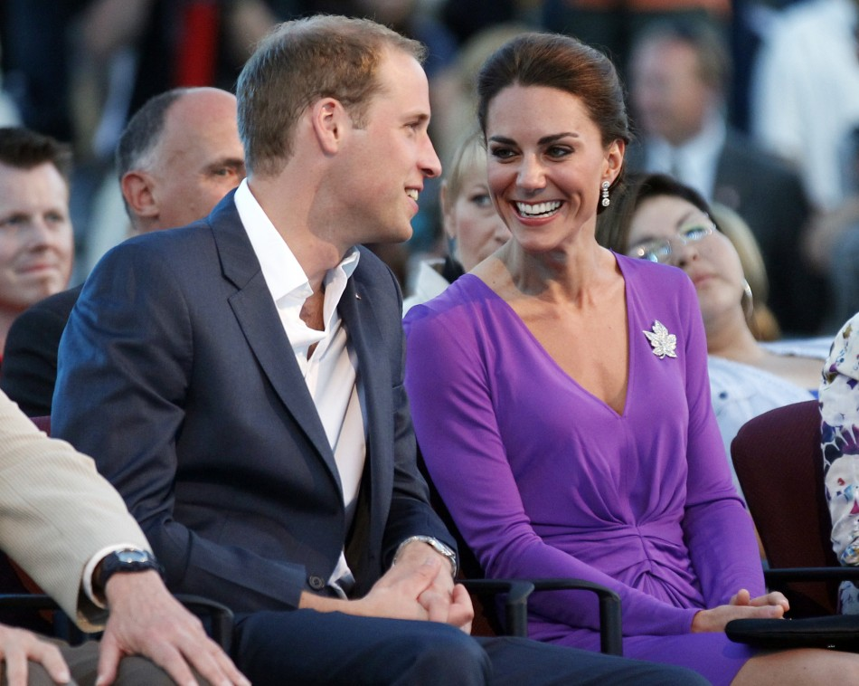 Britains Prince William and his wife Catherine, Duchess of Cambridge, take part in Canada Day celebrations on Parliament Hill in Ottawa