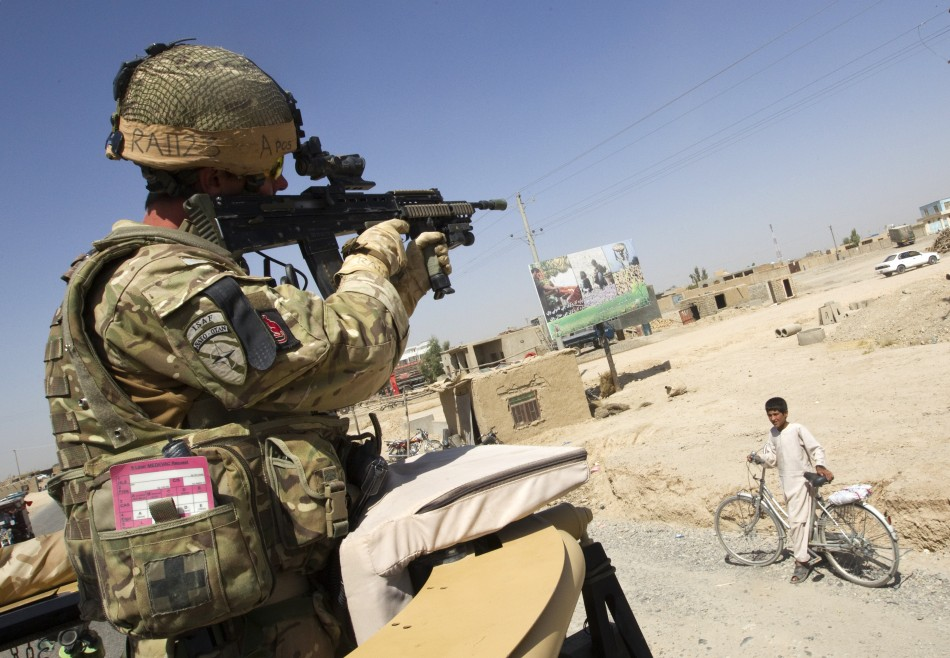 A British Army soldier on duty in Afghanistan