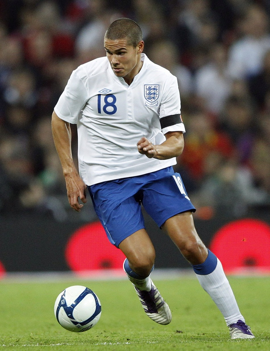 England's Jack Rodwell runs with the ball during their international friendly soccer match against Spain at Wembley Stadium in London