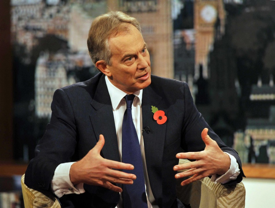Former British Prime Minister, Tony Blair, Appearing on the BBC1 Current Affairs Program, 'The Andrew Marr Show' on November 13, 2011