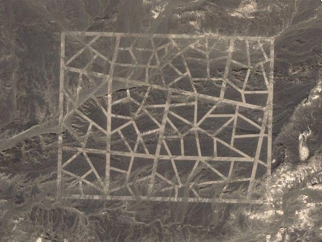 Theories have begun to emerge that the strange structures and outlines are replica of street layouts.