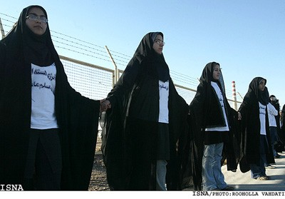 Iranian women form human shield around nuclear plant in Isfahan