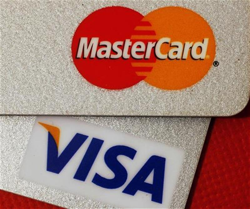 MasterCard and VISA credit cards