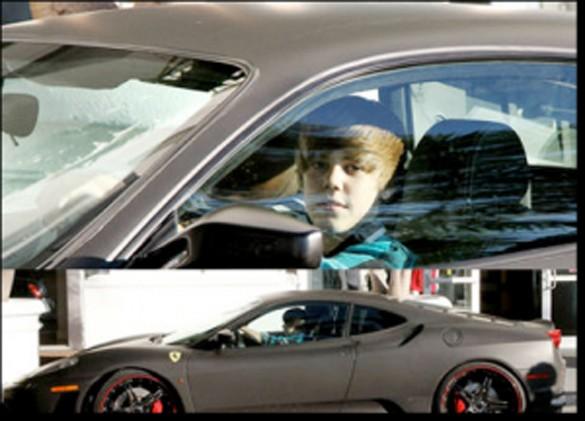 Bieber and His Ferrari F430