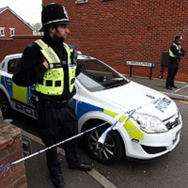Police guard a property in Oldbury after a boy was allegedly kidnapped