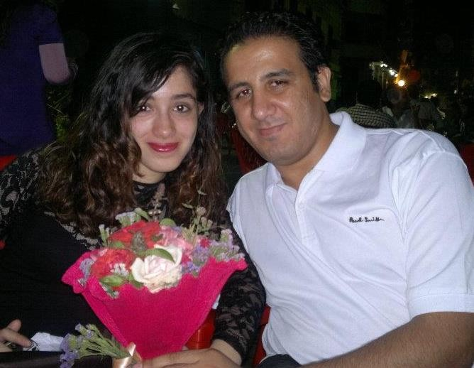 Aliaa Magda Elmahdy with her boyfriend, the well-known blogger Kareem Amer