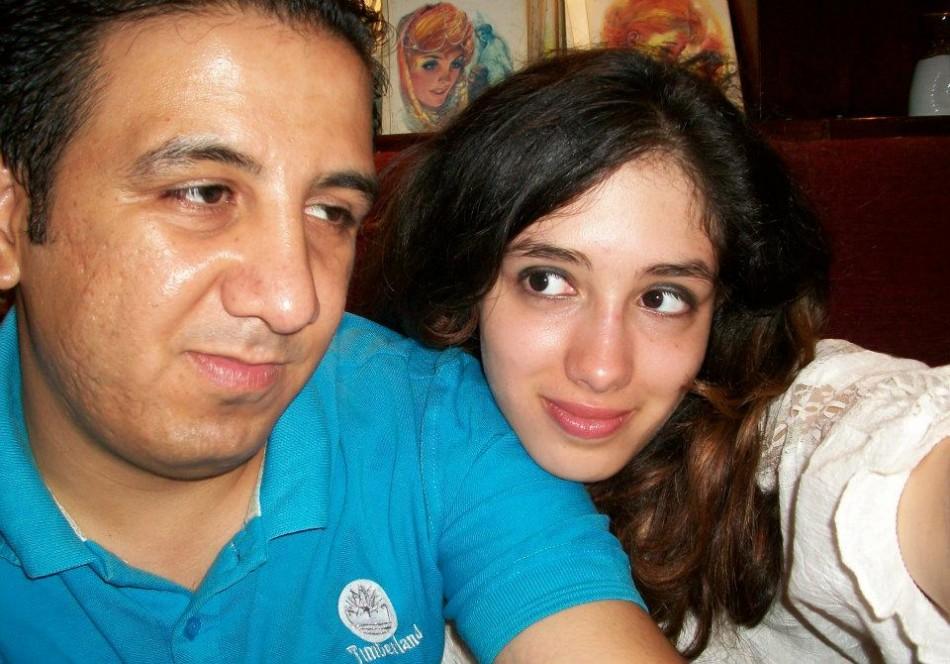 Aliaa Magda Elmahdy with her boyfriend Kareem