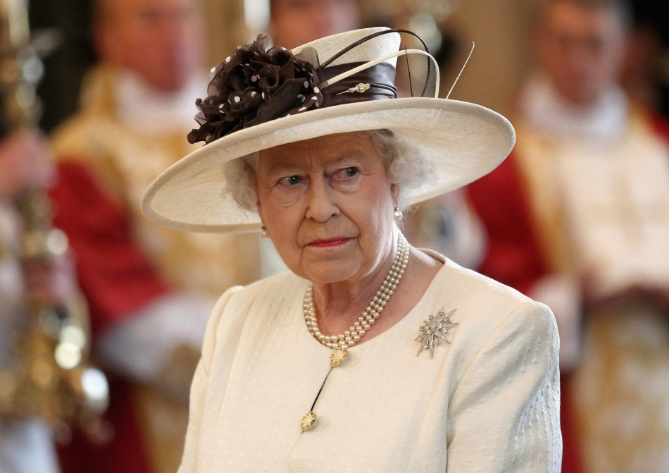 Queen Elizabeth II attends a service of celebration to mark the 400th Anniversary of the King James Bible