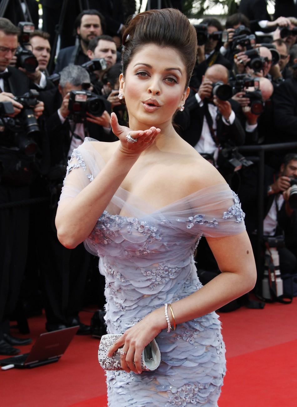 "Actress Aishwarya Rai arrives for the screening of ""Robin Hood"" and for the opening ceremony of the 63rd Cannes Film Festival"