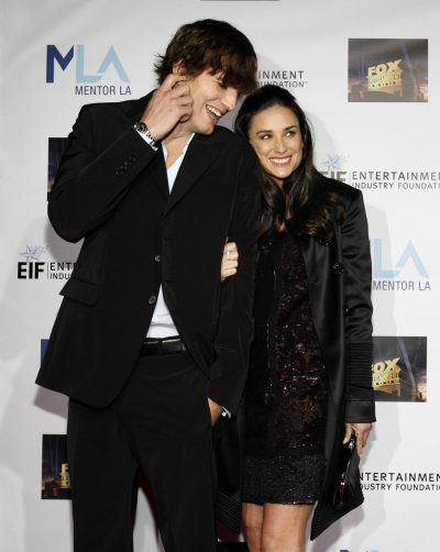 Ashton Kutcher and Demi Moore attend the Mentor LAs Promise gala in Los Angeles