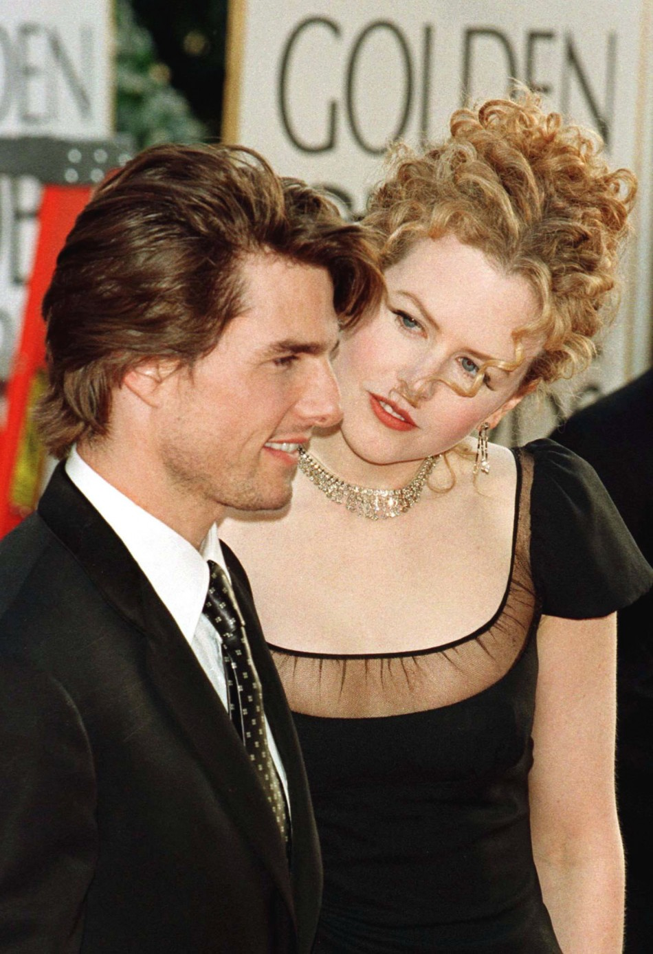 Actor Tom Cruise and his wife actress Nicole Kidman arrive January 19 at the 54th Annual Golden Globe.