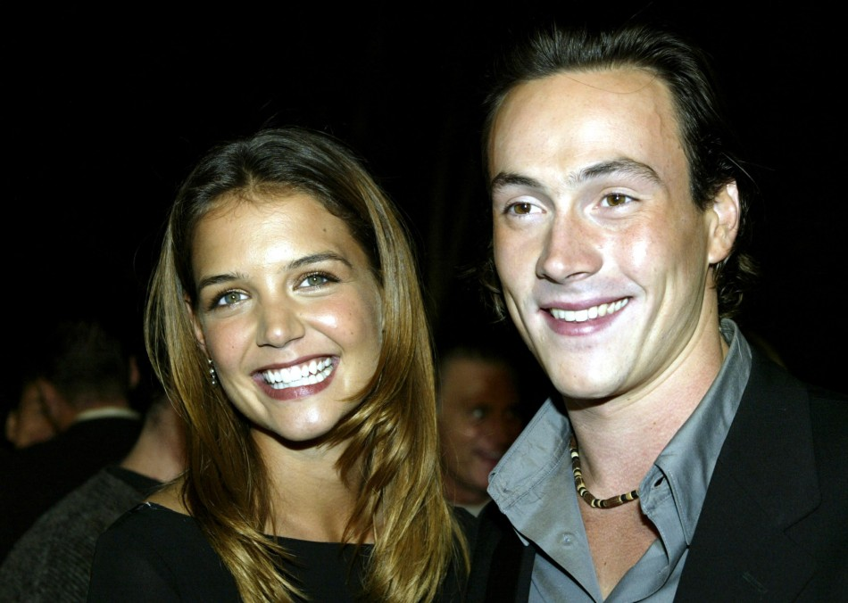 Cast member Katie Holmes and actor Chris Klein arrive fror the world premiere of the film quotAbandonquot