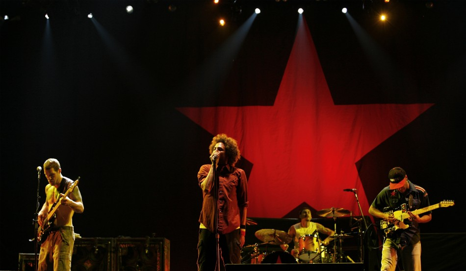 "The band ""Rage Against The Machine"" perform during the Rock The Bells Festival in New York"