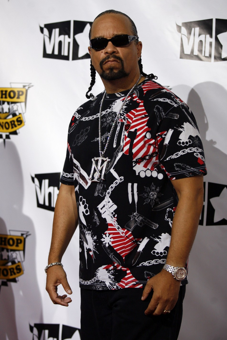 Rapper Ice T arrives at the 4th Annual VH1 Hip Hop Honors event in New York