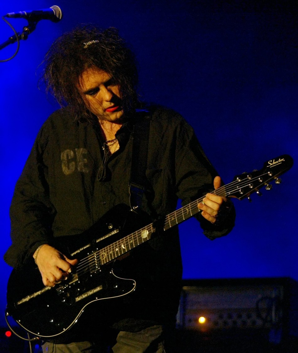 "Robert Smith of British group ""The Cure"" performs during Benicassim International Festival"