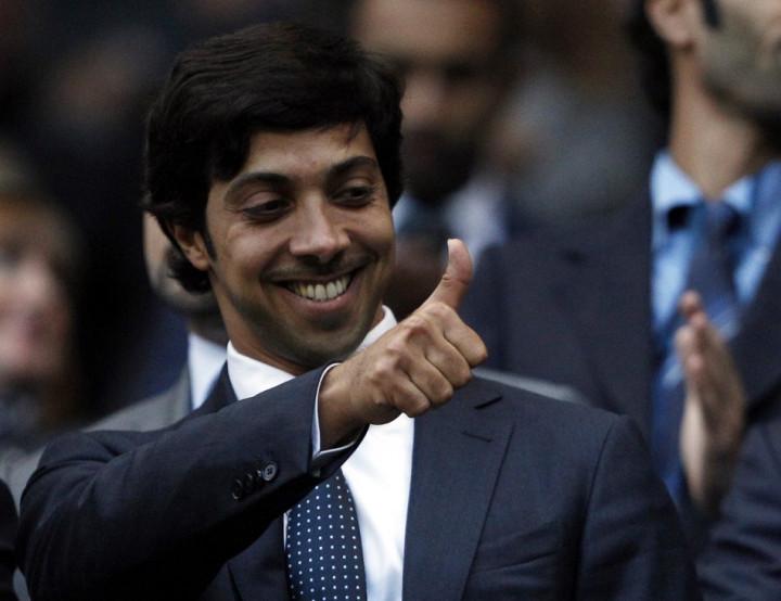 Manchester City's owner Sheik Mansour bin Zayed Al Nahyan