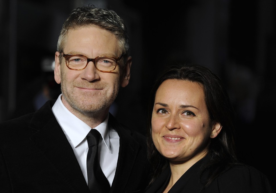 Cast member Kenneth Branagh and wife Brunnock arrive for the European premiere of quotMy Week With Marilynquot in London
