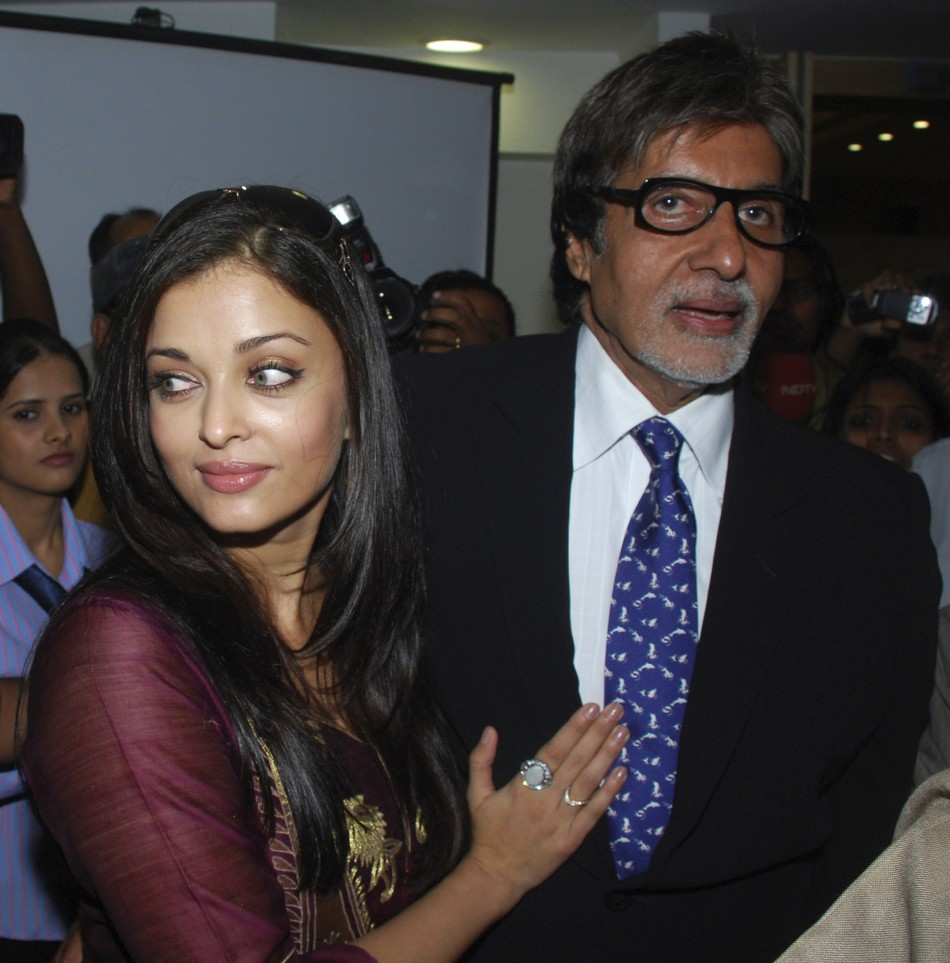 Amitabh Bachchan with bahu Aishwarya Rai
