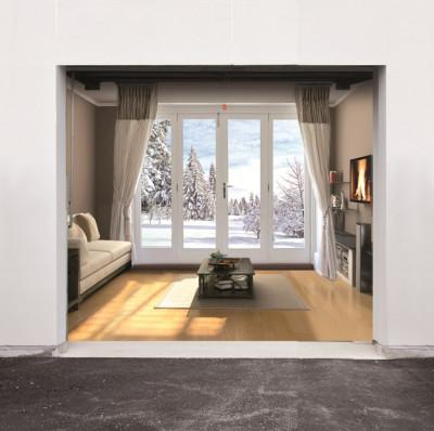 A seasonal front room