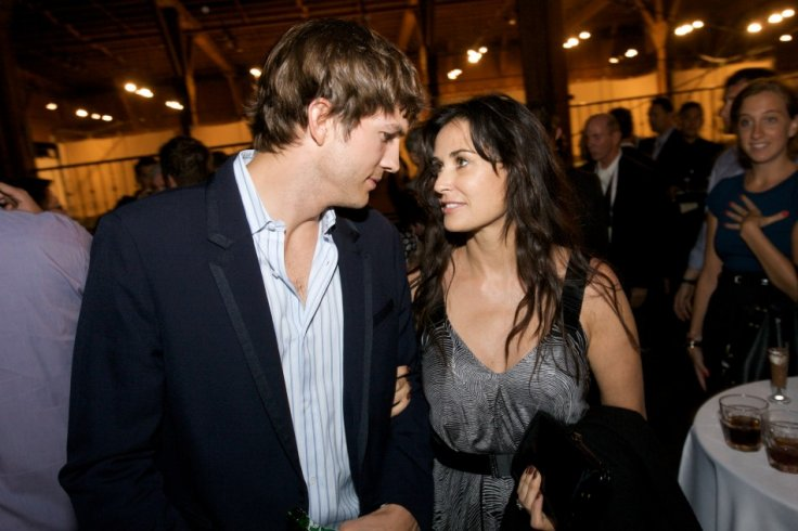Ashton Kutcher and Demi Moore During Happy Marriage Days