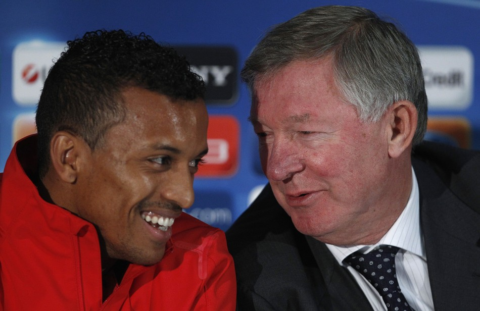 Manchester United's Nani during a news conference
