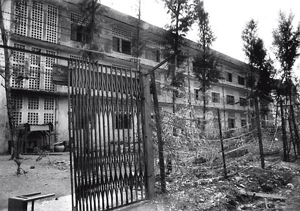 Exterior of S-21 prison, Phnom Penh, Cambodia, early January 1979