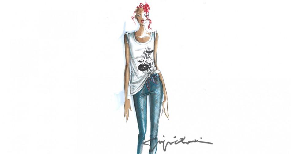Sketch of the 'Rihanna for Emporio Armani'