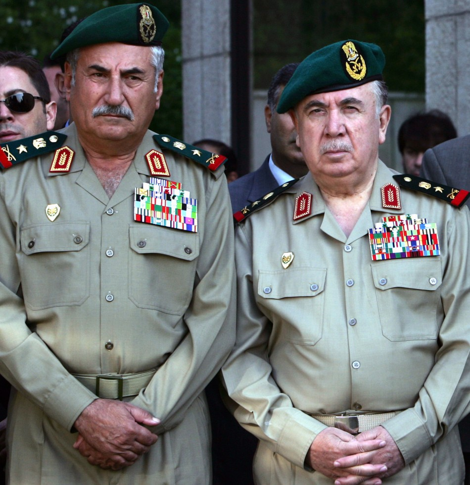 Ali Habib, Syrian Army Chief of Staff (Left) with Syrian Defence Minister Turkmani