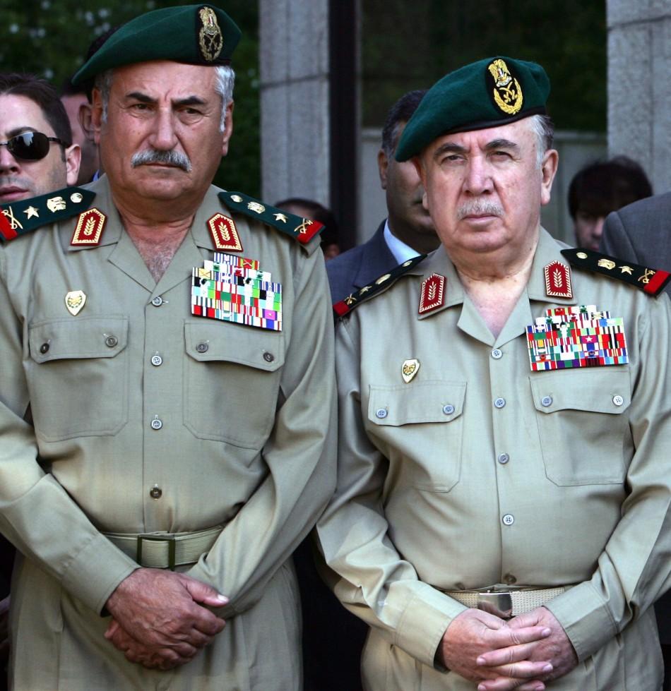 Ali Habib, Syrian Army Chief of Staff Left with Syrian Defence Minister Turkmani