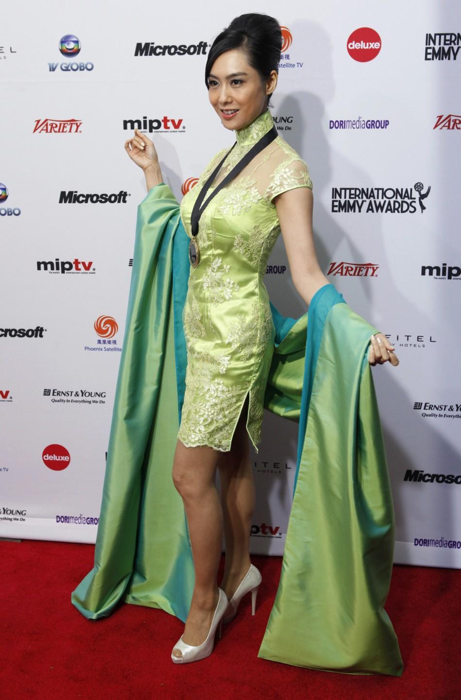 Actress Athena Chu Yan of China arrives at the International Emmy Awards