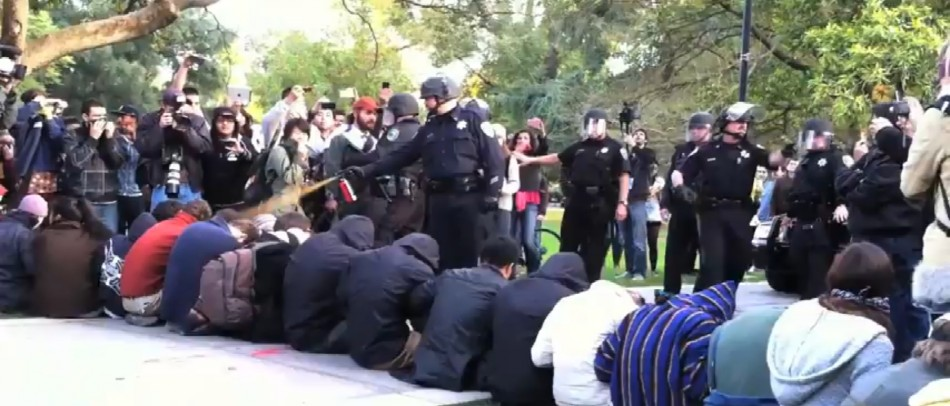 Officials at the University of California have said they will pay the medical expenses of the students who were pepper spared during an Occupy Davis protest last week.