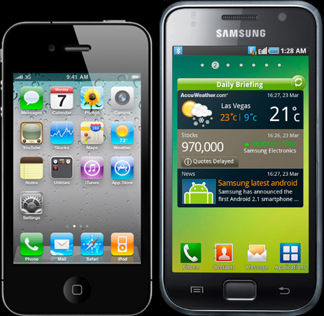 Galaxy S2 and iPhone 4