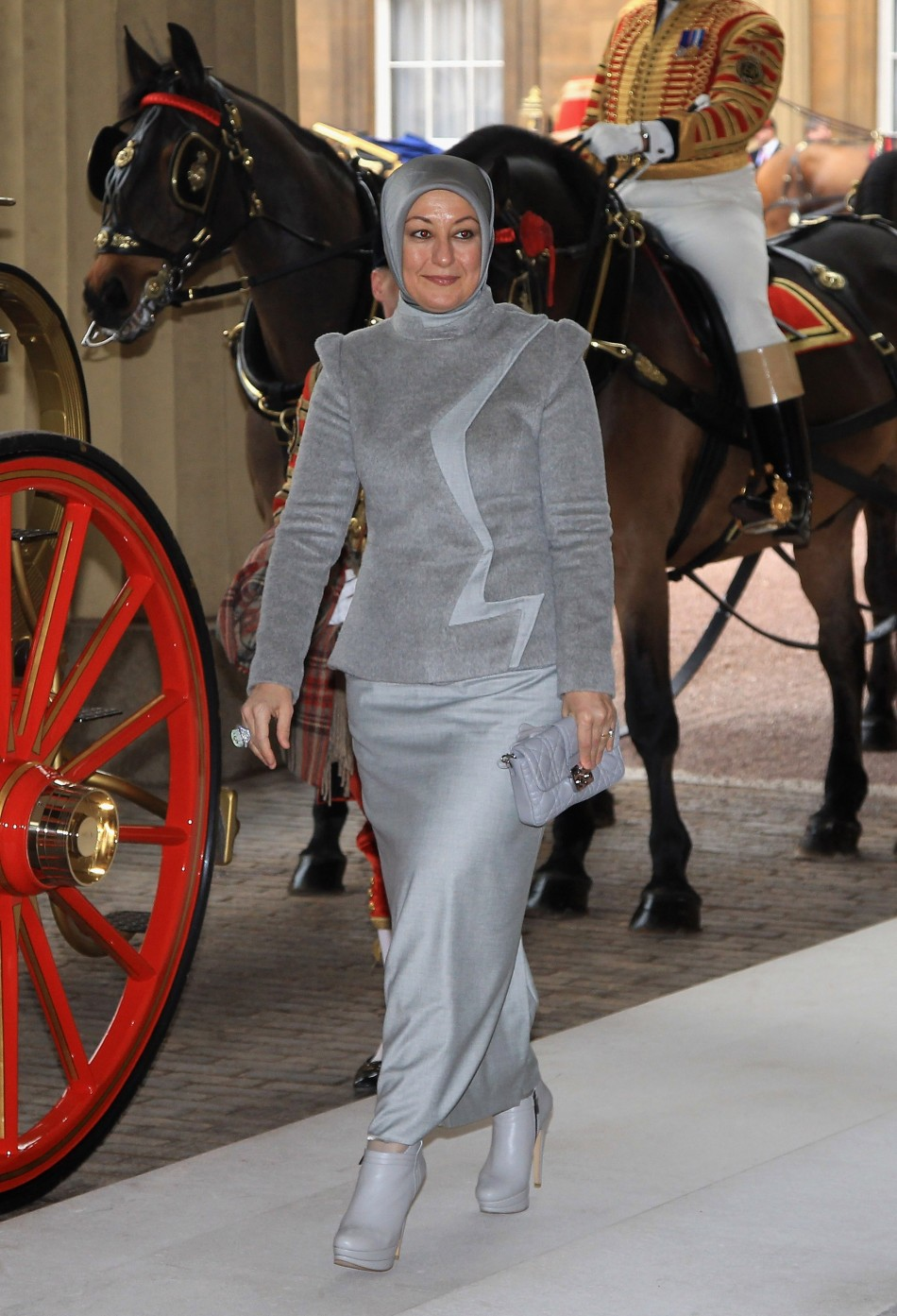 Hayrunnisa Gul, wife of Turkey's President Abdullah Gul arrives at Buckingham Palace during a state visit in London November 22, 2011.
