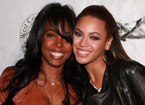 Kelly Rowland and Beyonce Knowles