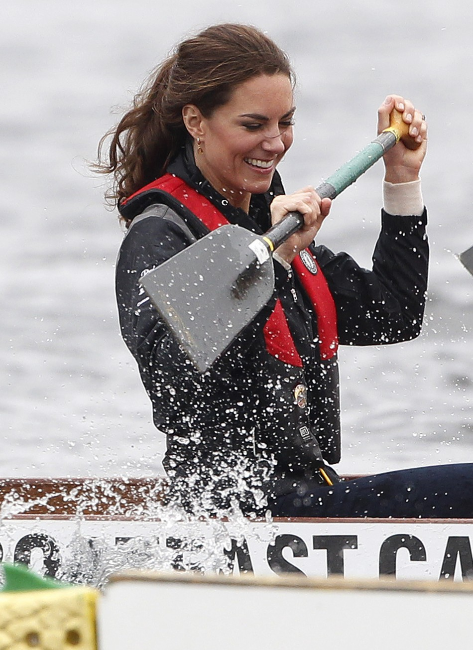 Kate Middleton during a Dragon Boat Race in July 4, 2011