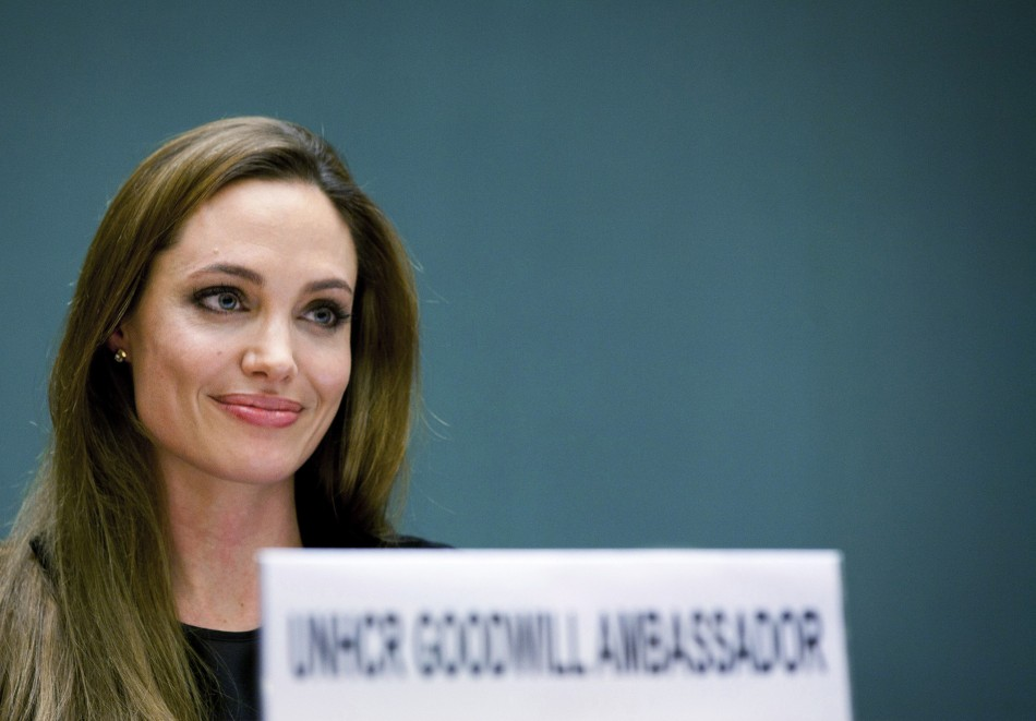 Actress and UNHCR Goodwill Ambassador Angelina Jolie