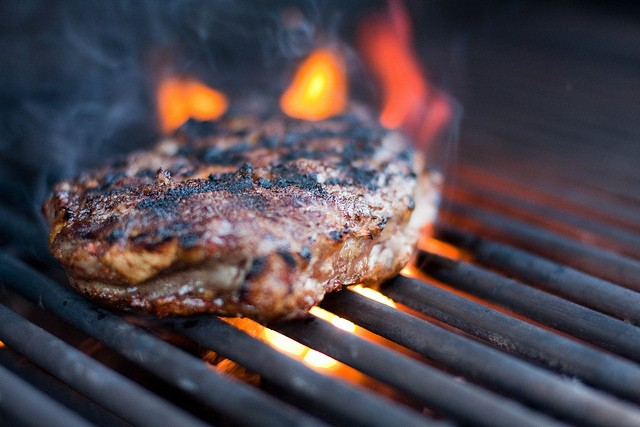 Chargrilled steak red meat barbecue